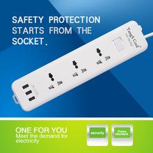 YangSCool正品美规英规欧标英式USB插排插线板转换插座香港版充电