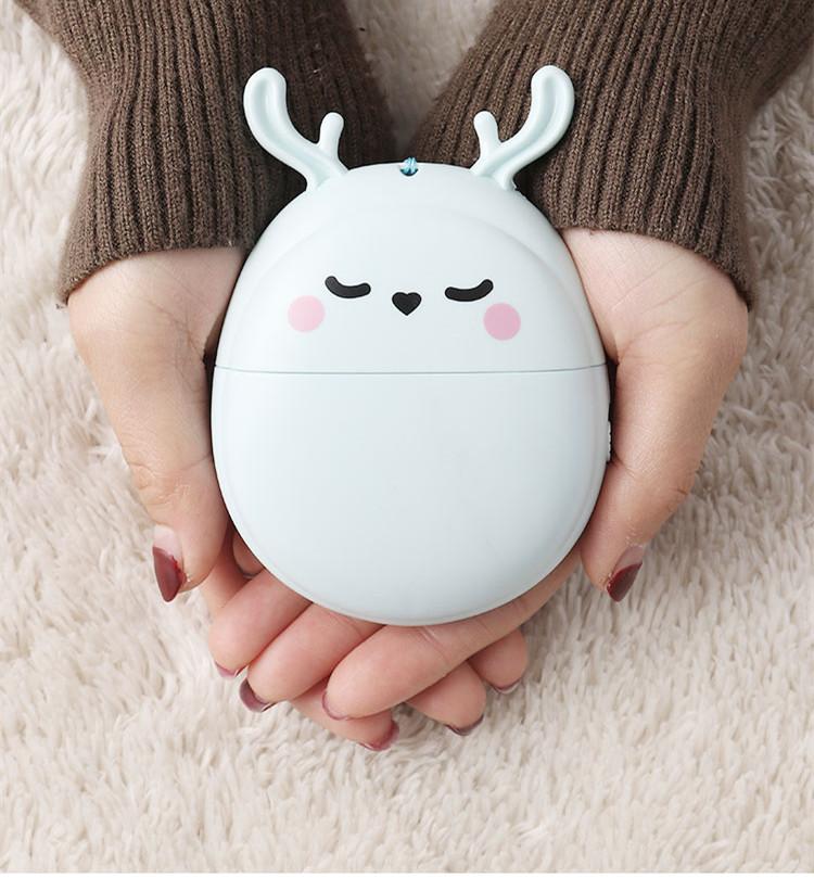 新款萌鹿手持USB充电风扇随身便携迷你萌兔电风扇礼品定制