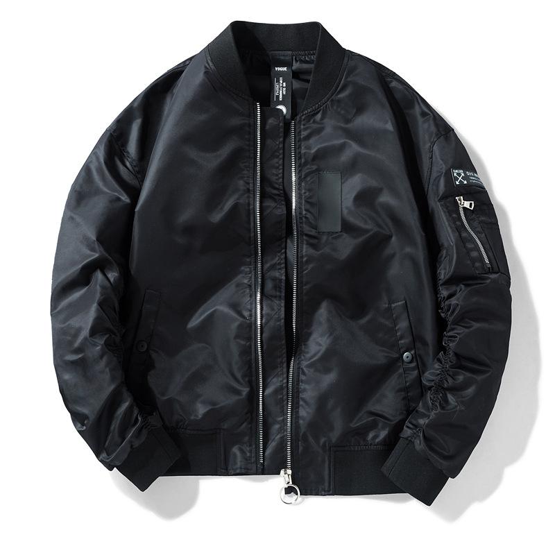 男装休闲立领夹克外套空军一号MA01美式飞行员男冬季加棉潮服跨境