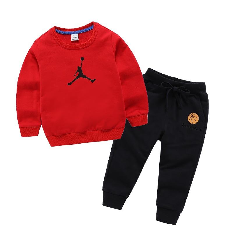 2020年秋季新品兒童衛衣套裝男童卡通印花童裝衛褲運動休閑兩件套