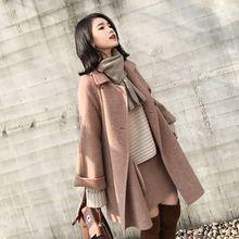 2019冬季新款韩版羊绒呢子大衣女加棉小个子学生冬季短款毛呢外套
