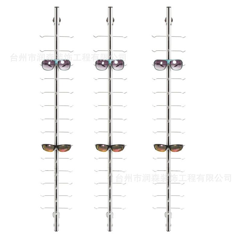 铝合金墙面式眼镜架眼镜挂条墙壁式眼镜展架 挂12/14/16付/18付