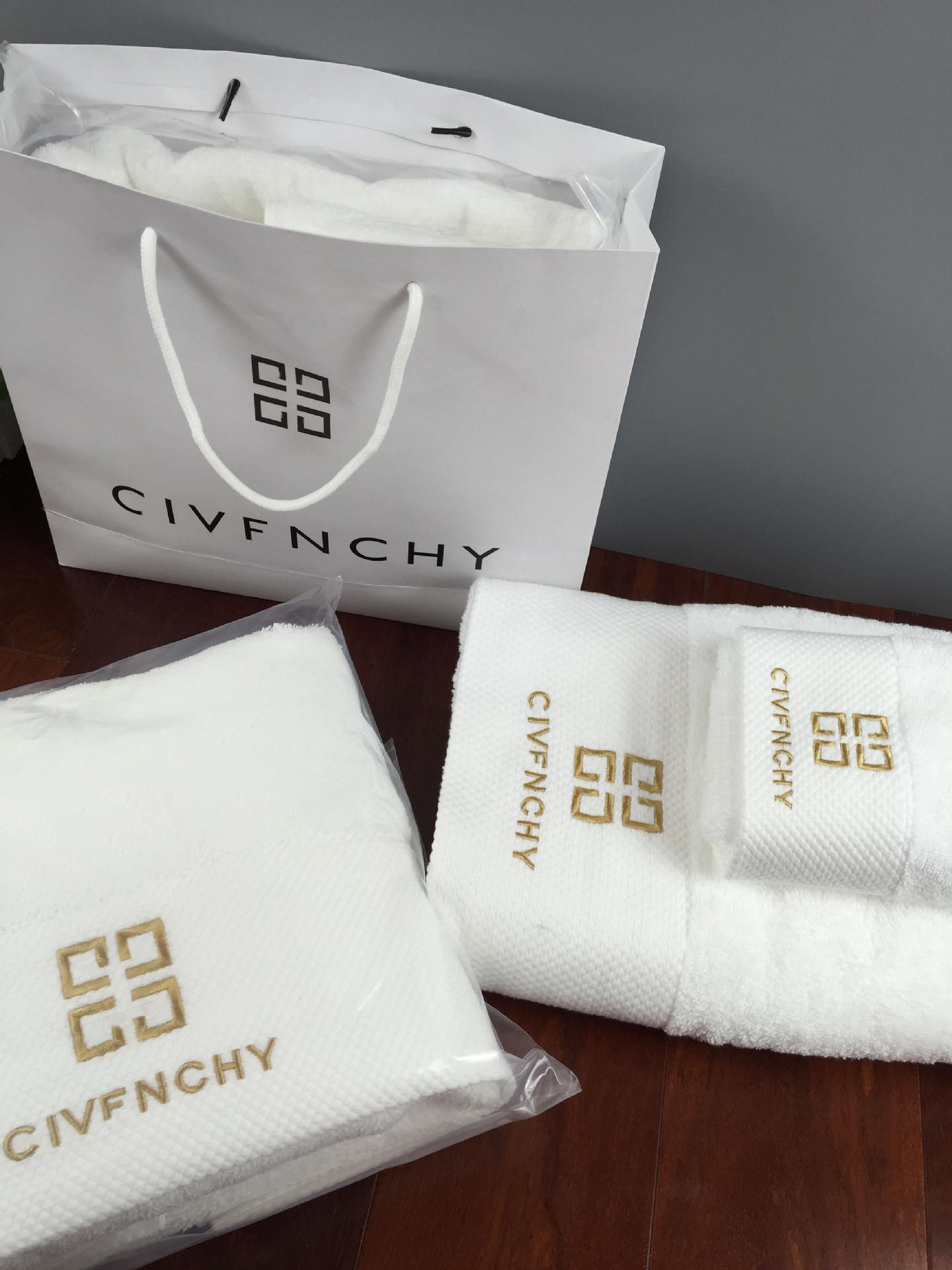 厂家直销酒店浴巾毛巾纯棉套装礼盒三件套白色70*140两件套可定制