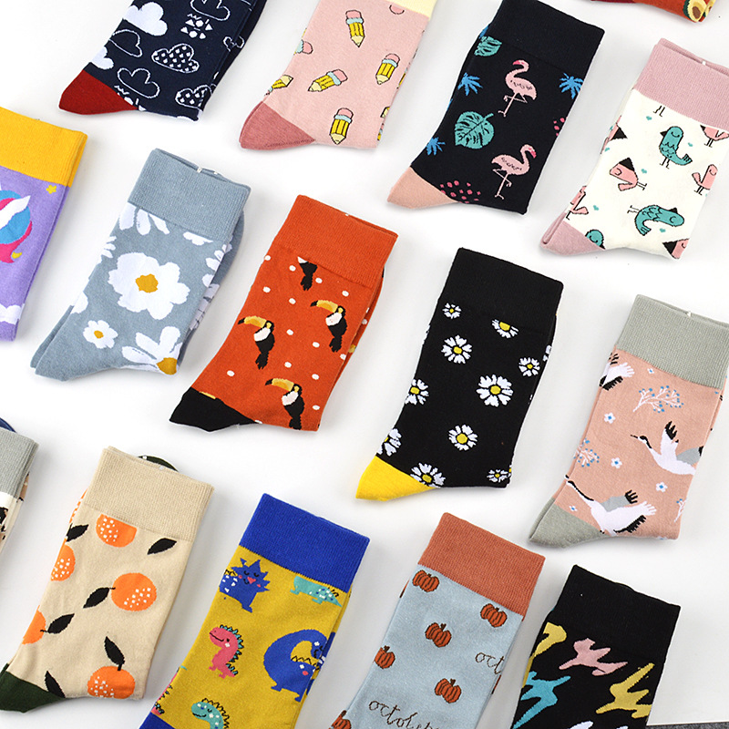 Hose of male lady of cartoon design pure cotton child manufacturer of lubricious Ins wet socks sells