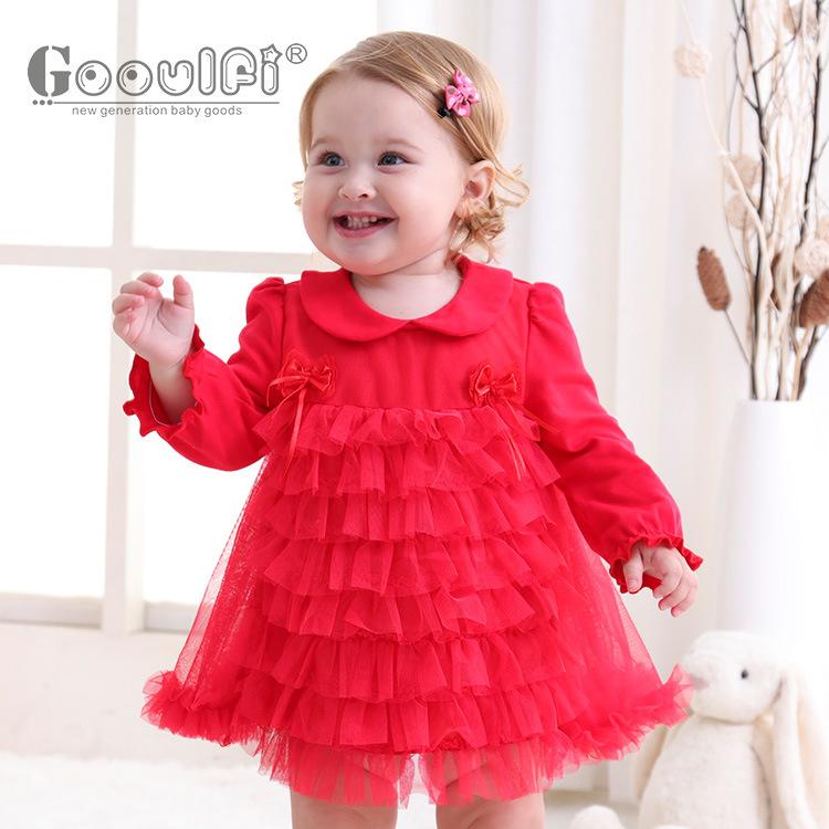 甜美儿童公主裙童装儿童长袖连衣裙婴儿包屁裙新款一岁宝宝蓬蓬裙