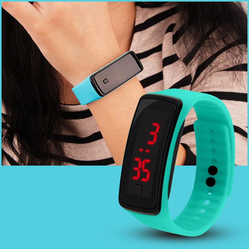 外贸爆款厂家直销LED墨镜手环表促销活动礼品运动学生情侣电子表