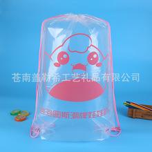 潮牌抓娃娃收纳袋 创意广告宣传袋印刷logo 可爱pe透明背包袋批发