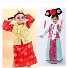 儿童皇帝服装清朝小皇上太子服男童龙袍套装唐朝古装少儿幼儿演出