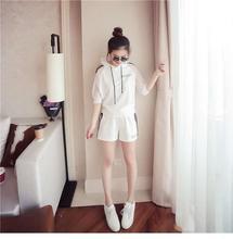 现货新款2019夏季甜美气质韩版女装超短时尚休闲套装代理加盟
