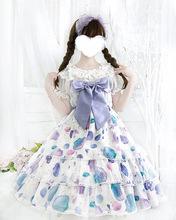 貝殼JSK吊帶 蕾絲蝴蝶結一件代發加盟代理洛麗塔少女lolita連衣裙