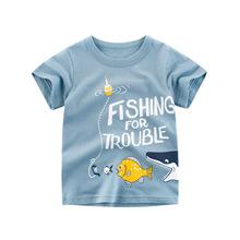 2020童裝夏季新款兒童服裝寶寶上衣男童短袖T恤 小孩子的衣服批發