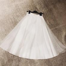2019?#21512;?#26032;款真丝刺绣波点白色半身长裙 超级美腻超仙时尚百搭款