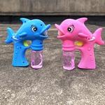 大号电动全自动海豚泡泡枪玩具照相机吹泡泡水卡通灯光音乐泡泡机