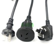 国标延长线10A 16a国标三插公母头电源延长线3芯0.75 1.0 1.5 2.5