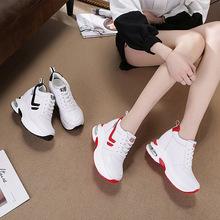 休闲鞋女 内增高女鞋子 厚底坡跟运动鞋 系带韩版春季松糕旅游鞋