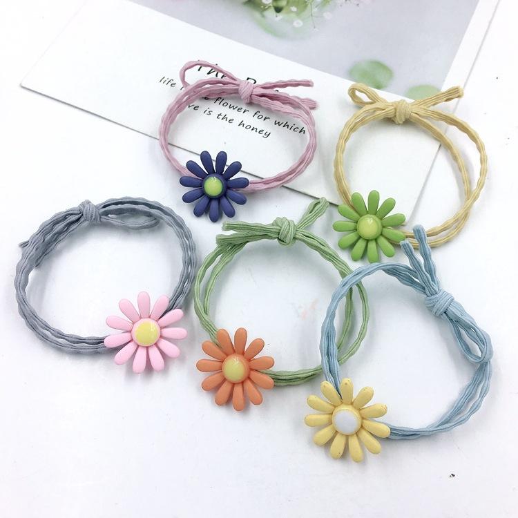 日韩国手链头绳?#25509;?#32593;红ins花朵发绳可爱扎头发橡皮筋发圈发饰女