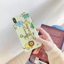 ins可爱卡通动物8plus?#36824;鹸smax手机壳iphone7个?#28304;?#24847;硅胶软适用