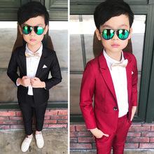 男童禮服套裝韓版兒童小西裝兩件套中小童主持人花童表演服裝西服