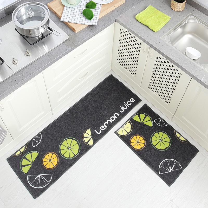 涤纶印英伦跨境厨房地门垫脚垫  入户地垫长条地毯子代发