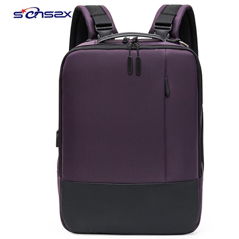 外贸爆款男士电脑双肩背包单肩包手提三用商务背包学生书包旅行包