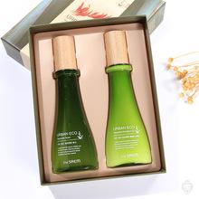 韩国theSAEM得鲜新西兰亚麻籽爽肤水乳液套装套盒清爽补水两件套