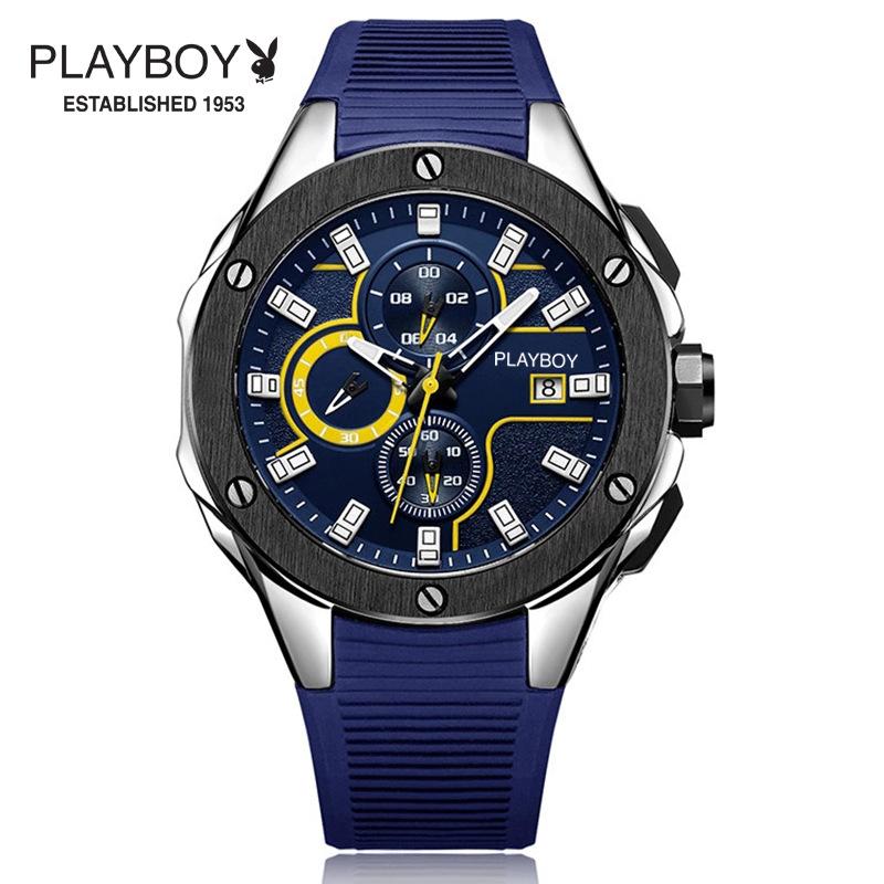 时尚潮流学生多功能运动计时手表橡胶带防水表正品夜光表