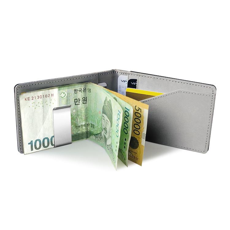 韩版速卖通新款PU钱夹创意个性七彩夹子包短款敞口大钞夹钱包批发