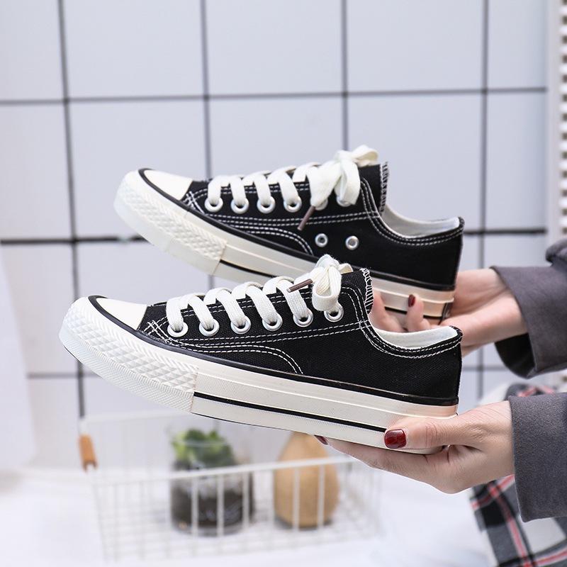 chic经典帆布鞋女1970s复古情侣鞋韩国ulzzang休闲鞋街拍女款布鞋
