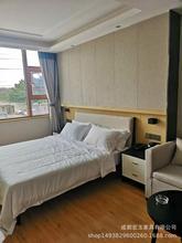 賓館客房酒店家具生產廠家批發定制板式床快捷公寓套房工程賓館床