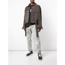 Fear of God 主线第五季欧美高街麂皮绒面革Fog短款衬衫夹克系带