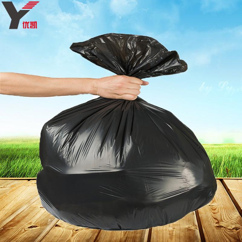 厂家批发黑色特大垃圾袋加厚酒店环保大号塑料袋一次性物业平口袋-