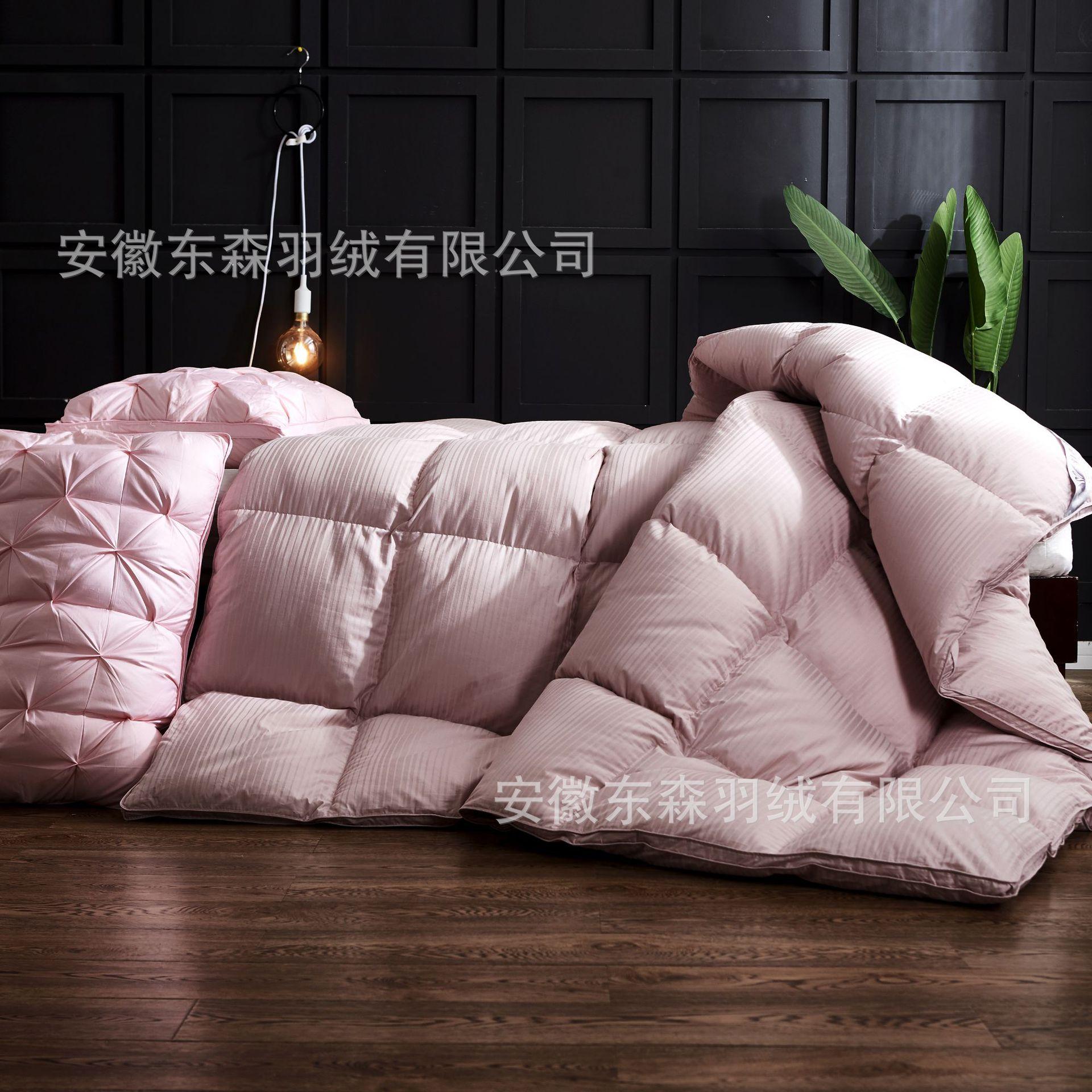 全棉羽绒被95白鹅绒加厚保暖单双人学生礼品酒店冬被被芯厂家批发
