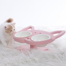 貓咪喂食喂水食盆 仙女布偶貓英短藍貓橘貓波斯貓貓碗 陶瓷寵物碗