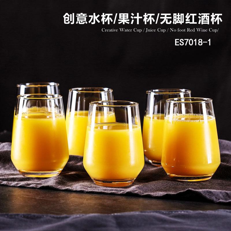 欧式家用几何杯威士忌洋酒杯耐热水杯果汁饮料杯大肚茶杯一件代发