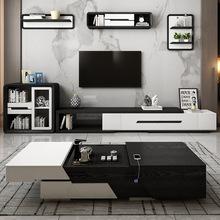 多功能茶几电视柜组合简约现代创意北欧办公升降智能伸缩功夫茶台
