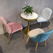 大理石圓桌 定制網紅輕奢奶茶店甜品店冷飲店茶餐西餐咖啡廳桌椅