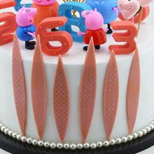 翻糖蛋糕模具 DIY巧克力插片蛋糕装饰模三角方块巧克力插牌模具