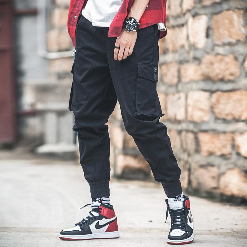 2019加大码男裤子韩版工装裤男时尚潮流束脚裤高棉透气休闲裤男潮