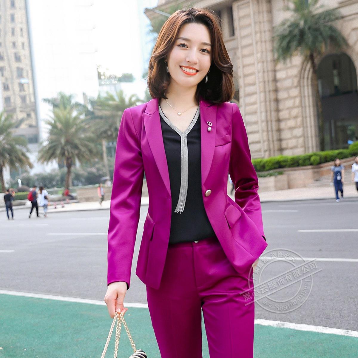 新品厂家批发工装商务小西装套装垂感质感正装爆款职业装女衬衫