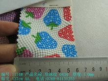 暢銷圓點波點魔鬼魚紋珍珠紋皮料印水果草莓水刺底印卡通包裝飾料