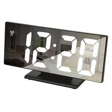 廠家直銷 創意充電鏡像電子貪睡鬧鐘 LED顯示智能鐘 DS-3618L