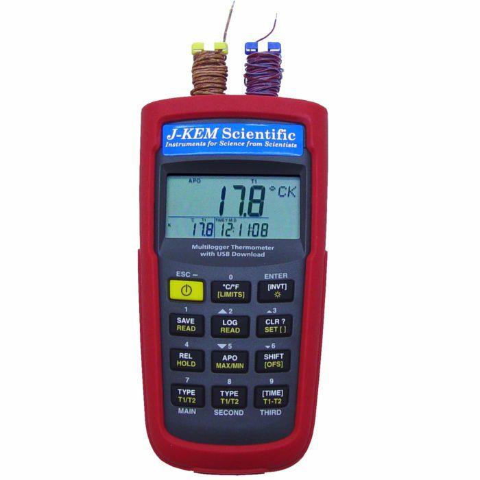 手持式仪表数据记录器_便携式手持温度记录仪_J-KEM手持式温度计