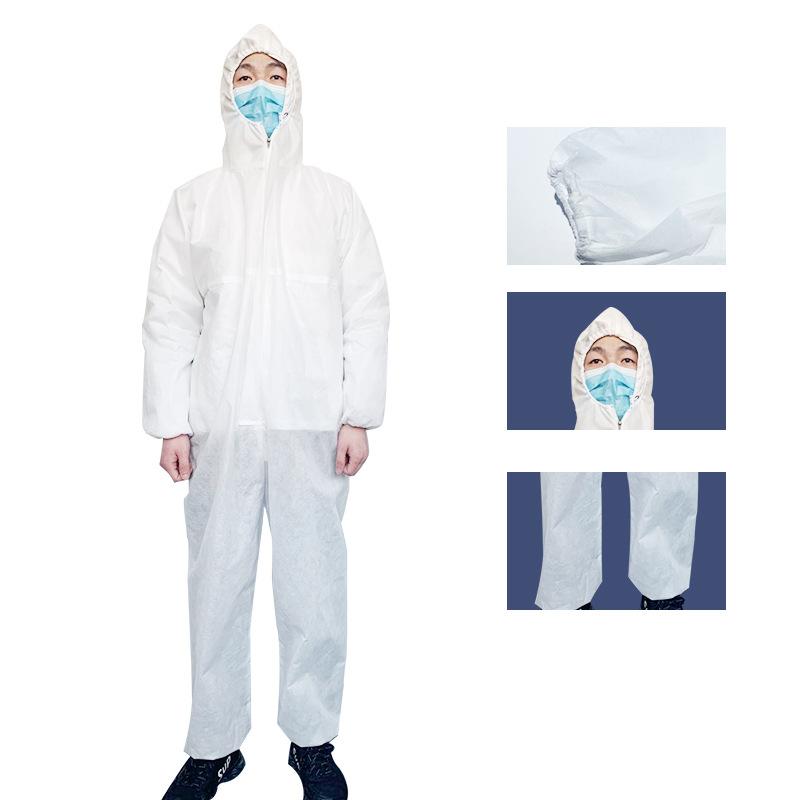 厂家直销一次性隔离服非无菌连体成人无尘工作服疫情防护上班制服