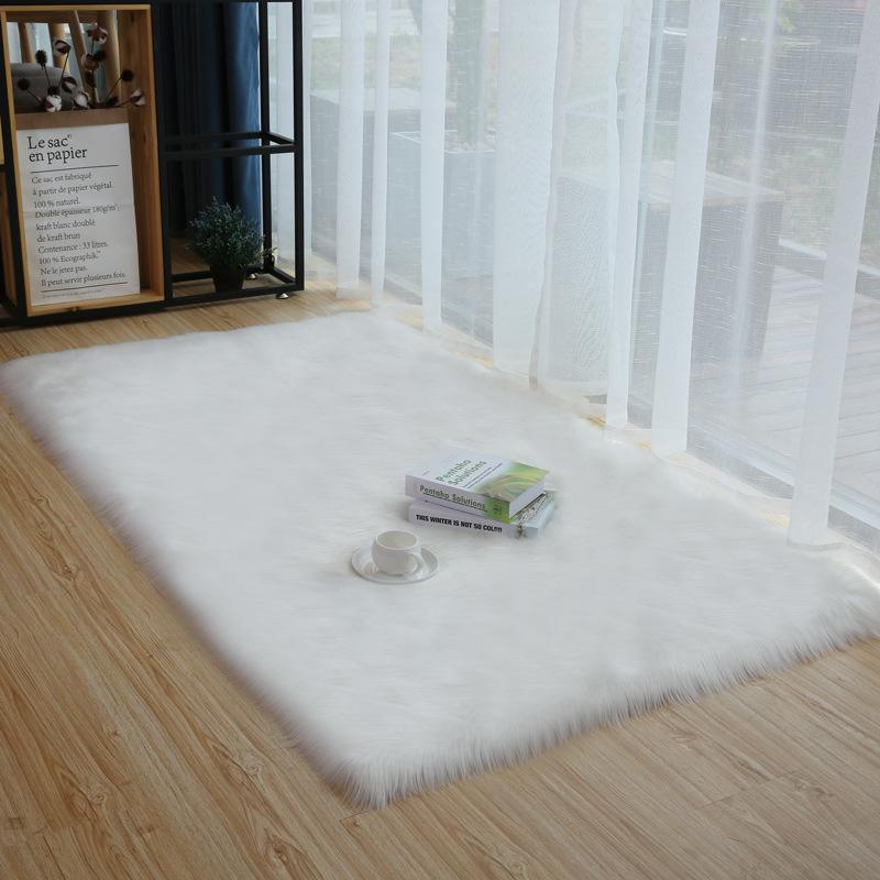 【地毯】臥室床邊長毛地毯客廳臥室長毛絨地毯櫥窗背景飄窗墊定制