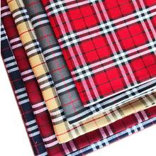 現貨供應TC色織梭織布蘇格蘭三線格子布經典款三線格格子密實面料