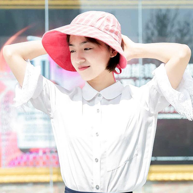 2020新款女春夏遮阳防护渔夫帽 潮流时尚大沿遮阳防晒帽批发-