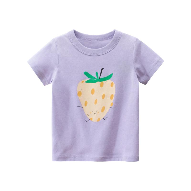 27home品牌童裝夏季新款2020 女童短袖t恤衫批發兒童服裝一件代發