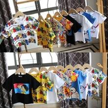 2020夏季地攤跑量新款兒童t恤短袖時尚韓版卡通打底衫童裝T恤批發