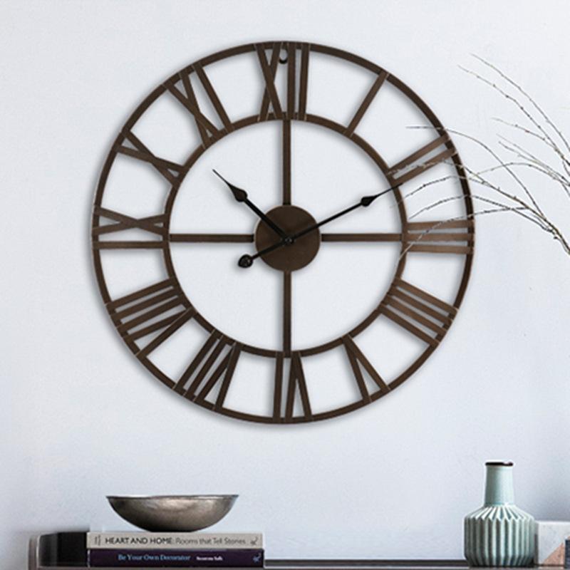 罗马古式挂钟 地中海复古工业风铁艺墙上壁挂 厂家直销可批发-