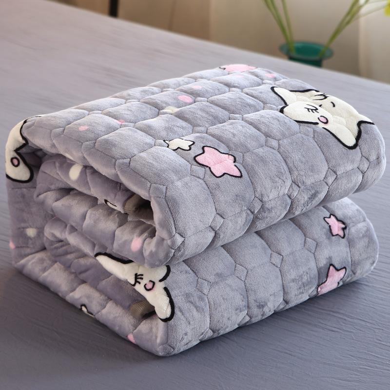 法莱绒床垫榻榻米防滑褥垫加厚床单法兰绒保暖薄垫被珊瑚绒床褥子